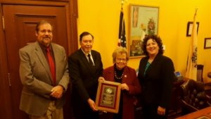 NJPHA presents the 2016 Public Health Award to Senator Loretta Weinberg (l tor) Dr. Jim Brown, Kevin McNally (NJPHA President), Sen. Weinberg, Elizabeth Brewer